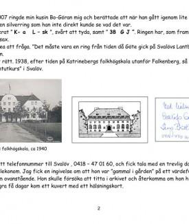 Göte Johnsson, Svalövsringen sid 2 (14)