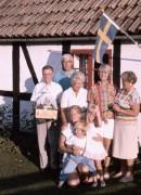 1986 Knäbäck, Göte, Alf, Märta, Ing-Britt och Ingrid. Christina, Linda, Jonas, sittande.