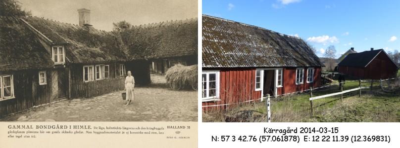STF vykort nr 35 -GAMMAL BONDGÅRD I HIMLE
