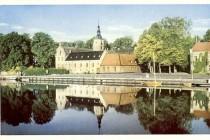 Halmstads slott och Gamla rådhuset 1941