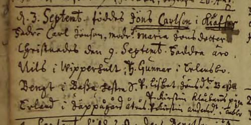 Jöns Carlssons födelse Villstad-C-2-1715-1743-Bild-10-sid-11