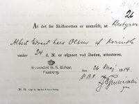 1914 Albert_E_L_Olsen-Dödsattest