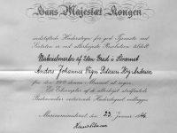 1946 Hederstegn för maririalmester