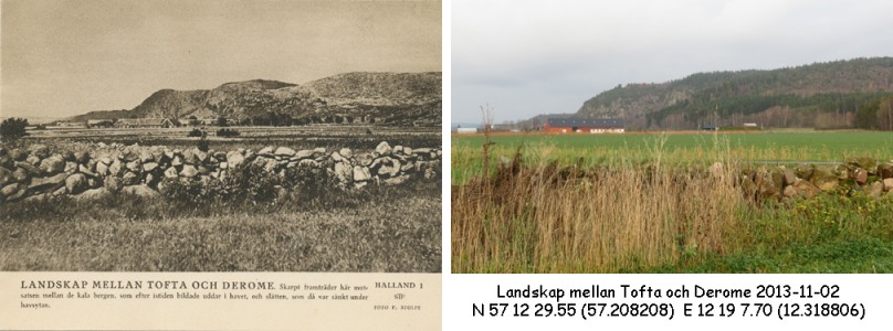 STF vykort nr 1 – Landskap mellan Tofta och Derome