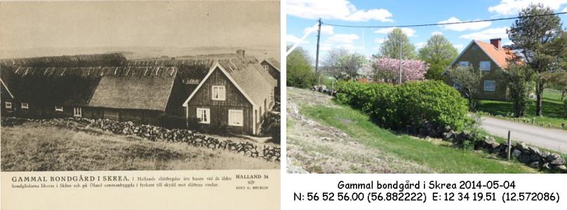 STF vykort nr 34 -GAMMAL BONDGÅRD I SKREA