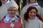 Biskop Antje Jakelén och Sofie