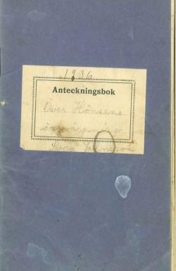 """Sveas anteckningsbok, """"Över hönsens äggvärpning"""""""