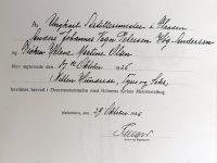 1926 A_J_V_P-Helene_Martine_Olsen-Vigselattest