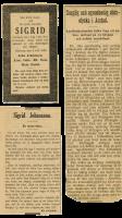 Tidningsurklippen som låg i CAF's bibel, tryckt 1794