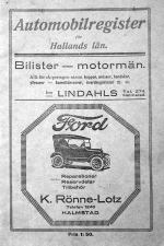 Automobile register 1924